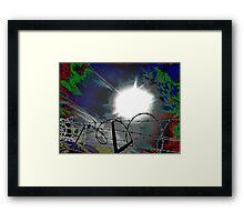"""""""Barbed Wire"""" Framed Print"""