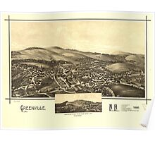 Panoramic Maps Greenville NH 1886 Poster