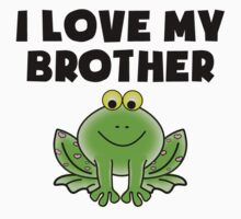 I Love My Brother Frog One Piece - Short Sleeve