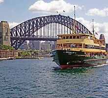 Manly Ferry approaching Circular Quay by TonyCrehan