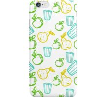 Apple and pear in Doodle style iPhone Case/Skin