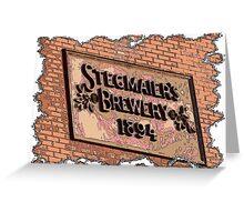 """Stegmaiers Brewery 1894"" Greeting Card"