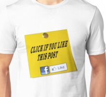 Click if you Like my post Unisex T-Shirt