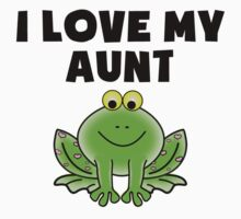 I Love My Aunt Frog Kids Tee