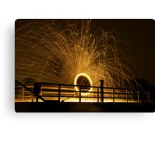 Circles and Sparks Canvas Print