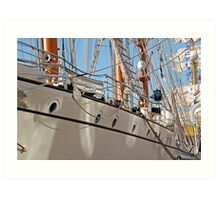 Sails, Masts, Rigging and Rope  Art Print