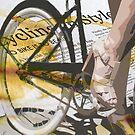 retro BICYCLE URBAN CHIC print by SFDesignstudio