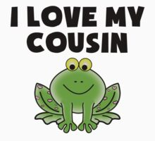 I Love My Cousin Frog Baby Tee