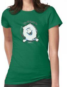 American Eskimo Dog IAAM Womens Fitted T-Shirt