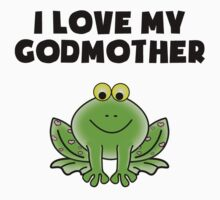 I Love My Godmother Frog Kids Tee