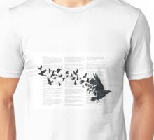 Vintage Style Print with Poem Text Edgar Alan Poe: Edgar Alan Crow Unisex T-Shirt