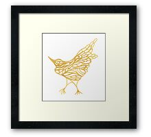 Golden Canary Framed Print