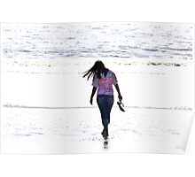 Walking on the beach 2 Poster