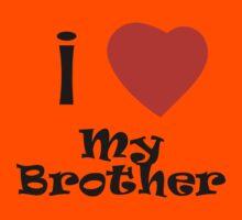 I Love My Brother Kids Tee