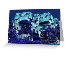 ๑۩۞۩๑HABITAT 67 MONTREAL-VERSION ONE-APPAREL ๑۩۞۩๑ Greeting Card