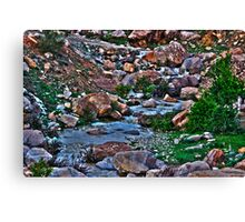 Waterway HDR Canvas Print