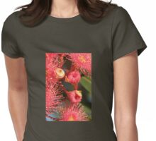 Red Gum bloom Womens Fitted T-Shirt