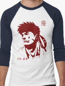 Ryu 隆 - The Spiritual Warrior Men's Baseball ¾ T-Shirt