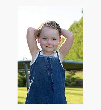 Little Girl Blue Photographic Print