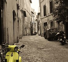 Yellow scooter by seanwareing