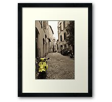 Yellow scooter Framed Print