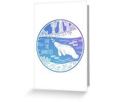 Save the Manatees! Greeting Card