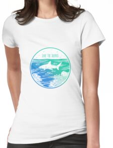 Save the Sharks! Womens Fitted T-Shirt