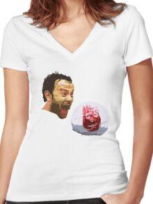 WILSON! CHUCK!  Women's Fitted V-Neck T-Shirt