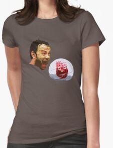 WILSON! CHUCK!  Womens Fitted T-Shirt