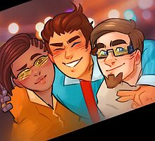 Rhys, Yvette, and Vaughn from Borderlands by lutnik