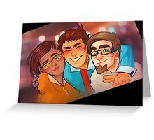 Rhys, Yvette, and Vaughn from Borderlands Greeting Card