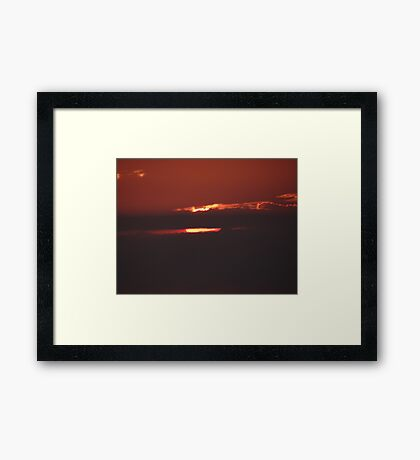 Sun and Clouds - Sol y Nubes Framed Print