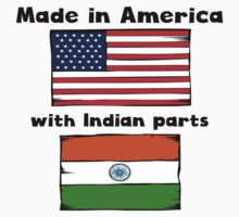 Made In America With Indian Parts Kids Tee