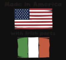 Made In America With Irish Parts Baby Tee