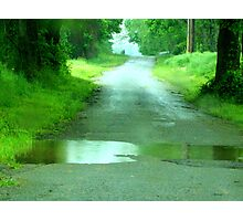 """""""PUDDLE JUMPS""""... in Spring! Photographic Print"""