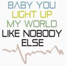 BABY YOU LIGHT UP MY WORLD LIKE NOBODY ELSE by mcdba