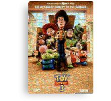 Mosaic Movie Poster: Toy Story 3 Canvas Print