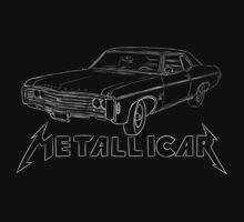 Metallicar (White Line and Text) Kids Clothes