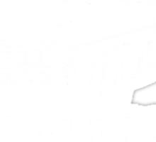 Metallicar (White Line and Text) Sticker