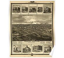 Panoramic Maps A T Andreas illustrated historical atlas of the State of Iowa 002 Poster