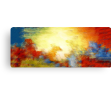 Splash of Colors Oil Painting Canvas Print