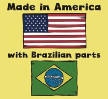 Made In America With Brazilian Parts Baby Tee