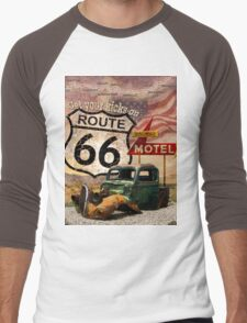 Get your Kicks on Route 66 Men's Baseball ¾ T-Shirt
