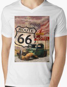 Get your Kicks on Route 66 Mens V-Neck T-Shirt