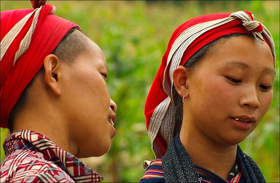 Dao Women, Bac Ha, Vietnam by Karl Willson