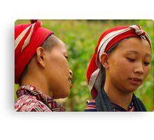 Dao Women, Bac Ha, Vietnam Canvas Print
