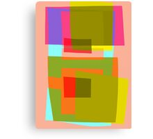 Abstract in pink and green Canvas Print