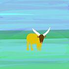Bull on a Landscape by Phil  Hogan