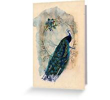 Vintage Peacock Case Greeting Card