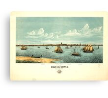 Panoramic Maps Provincetown Canvas Print